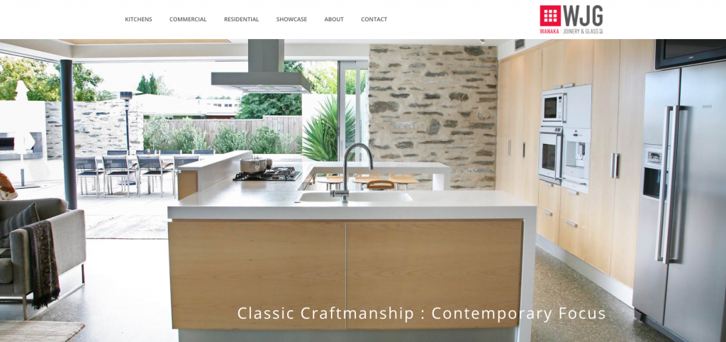 Wanaka Joinery and Glass website